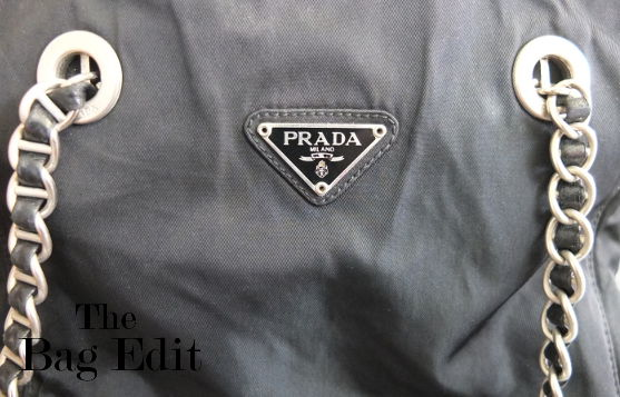 fake prada messenger bag - Prada Nylon Bag with Silver Chain Strap |